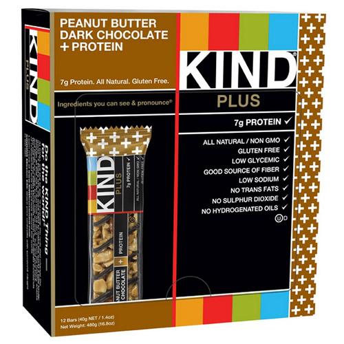 KIND PLUS Peanut Butter Dark Chocolate + Protein Gluten ...